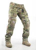 Survival Tactical Gear Pants with Knee Pads Hunting Paintball Airsoft BDU Military Camo Combat Trousers for Men (Multicam, L)