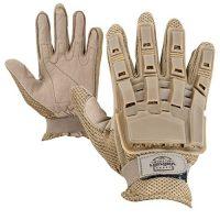 Valken Full Finger Plastic Back Airsoft Gloves, Tan, X-Large