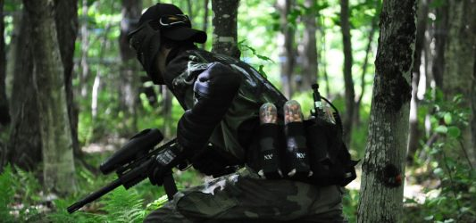 Can i paintball in the woods